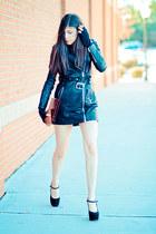 black storets jacket - Marni heels