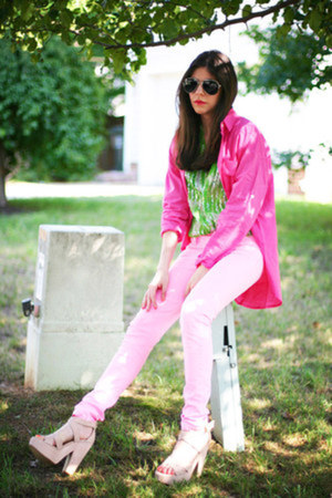 vintage blouse - skinny jeans Hot Topic jeans - vintage shirt