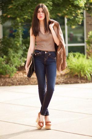skinny jeans True Religion jeans - leather jacket Burning Torch jacket