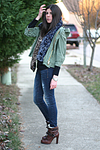 Dolce Vita boots - American Eagle jeans - Dress & Co jacket