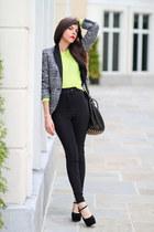neon American Apparel sweater - Zara blazer - Alexander Wang bag