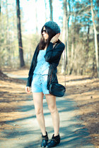 asos boots - Tulle cardigan - Forever 21 romper