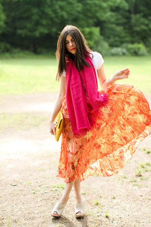 Chan Luu scarf - asos bag - Aldo sandals - vintage skirt - Loft bracelet