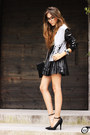 Silver-labellamafia-coat-black-romwe-t-shirt-black-goodnight-macaroon-skirt
