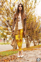 brown Boda Skins jacket - gold Lovelysally leggings