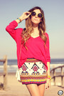 Red-studio21-jumper-ivory-studio21-skirt