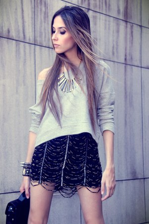 silver Lokanda necklace - black Lokanda skirt - silver Lokanda jumper