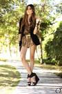 Brown-romwe-shirt-brown-joa-closet-shorts-black-iclothing-heels