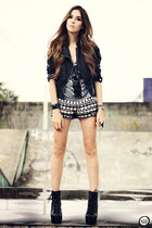 black Choies boots - black Xiquita Bakana shorts