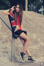 maroon She Inside top - black Romww sneakers