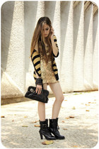 charcoal gray JFRSE ring - gold sequins Lokanda dress - black Makenji cardigan