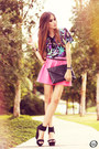 Bubble-gum-living-royal-skirt-black-romwe-top-black-iclothing-heels