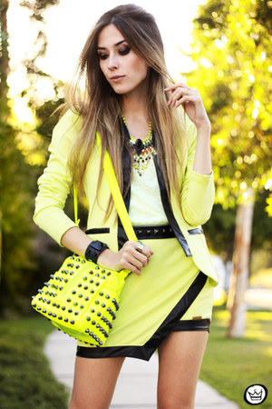 lime green Kodifik blazer - lime green Kodifik skirt