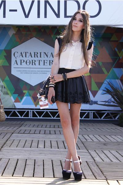 black GoodNight Macaroon skirt - tan ClubCouture top