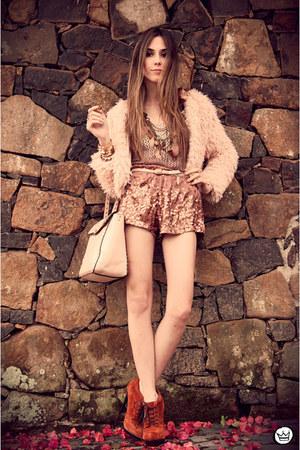 Brech da Neide coat - Choies bag - asos heels - romwe jumper