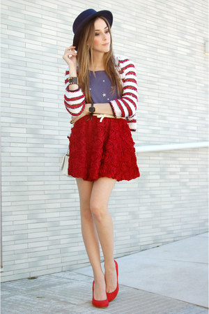 romwe cardigan - Wildfox t-shirt - Chicwish skirt