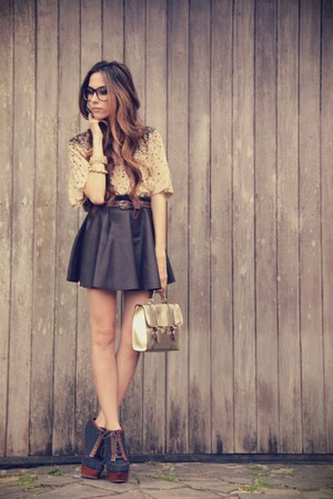 Xiquita Bakana skirt - asos bag - Brech da Neide top - asos heels