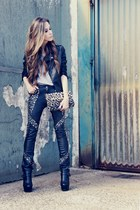 black studded Lokanda pants - black Sheinside jacket