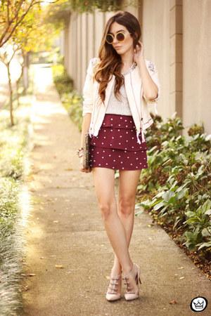 Cor de Rosa jacket - Luxo Rosè skirt