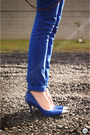 Blue-spikes-arezzo-shoes-carrot-orange-arezzo-bag-blue-renner-pants