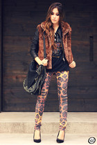 black Boda Skins jacket - dark brown Displicent leggings