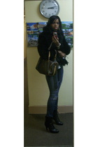 Express coat - f2 jeans - payless shoes