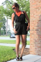 coral dotz kate spade necklace - black one shoulder banana republic jumper