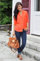 Zara blouse - Only jeans - H&M flats