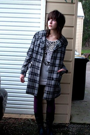 Secondhand coat - Valleygirl dress - Sportsgirl socks - DFO shoes