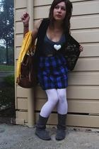 vest - cotton on scarf - Payless Shoes shoes - Ebay tights
