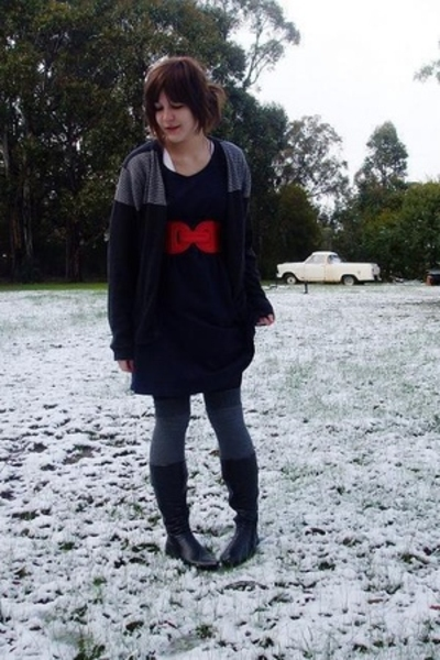 Secondhand dress - Ebay belt - Sportsgirl socks - Secondhand shoes