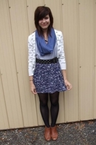 jacket - DIY scarf - top - supre belt - Big WDIY skirt - shoes