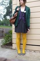 blazer - vest - dress - tights