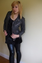 vintage jacket - Ebay dress - supre pants - Target Australia shoes