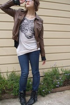 supre jeans - Valleygirl top - Big W jacket - Barkins shoes