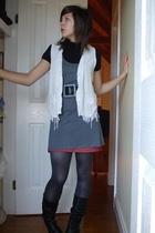 Secondhand vest - cotton on dress - Secondhand skirt - Mink Pink top