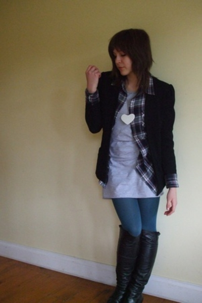 Secondhand blazer - Jay Jays shirt - American Apparel dress - Myer tights