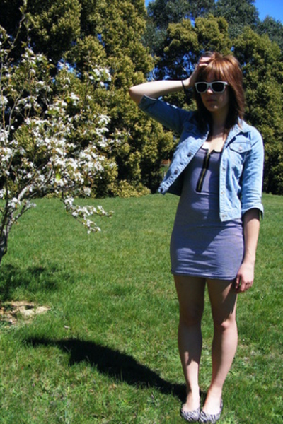 Secondhand jacket - cotton on dress - amy rosa shoes - cotton on sunglasses