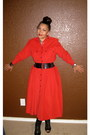 Booties-chinese-laundry-boots-vintage-dress-liz-claiborne-dress