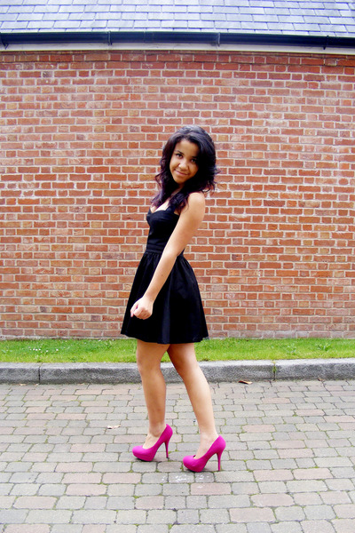 black verycouk dresses pink bright pink linzi shoes