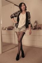 vintage jacket - Zara t-shirt - Vintage Levis jeans - Aldo shoes