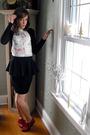 White-forever-21-shirt-black-forever-21-skirt-red-random-brand-shoes-purpl