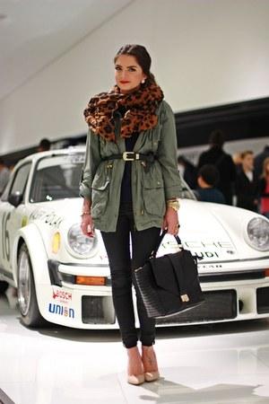 olive green Primark coat