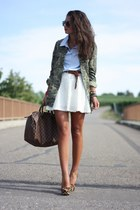 brown Louis Vuitton bag - brown Steve Madden pumps