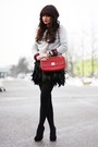 Periwinkle-mango-sweater-ruby-red-love-moschino-bag-black-romwe-skirt