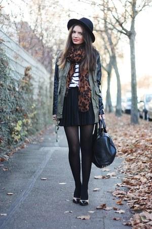 brown Primark scarf - olive green lookbookstore jacket