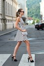 White-zara-dress-white-choies-bag-brown-ray-ban-sunglasses