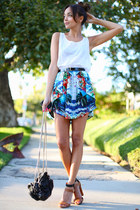 Prints on skirt
