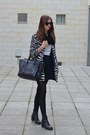 Black-vagabond-boots-white-choies-coat-black-celine-bag