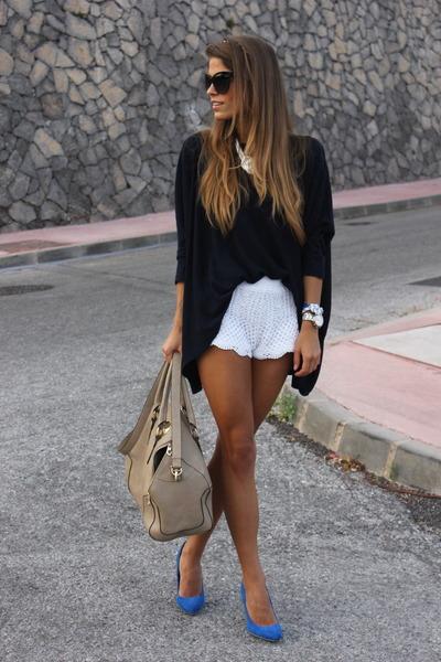 white romwe shorts